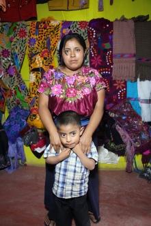 Rosa tisseuse du Chiapas